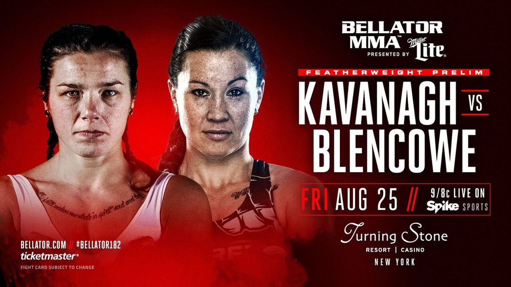 Bellator MMA; Sinead Kavanagh vs. Blencowe, Turning Stone Casino, New York