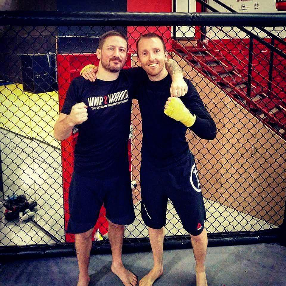 Gary with his Wimp2Warrior head coach John Kavanagh