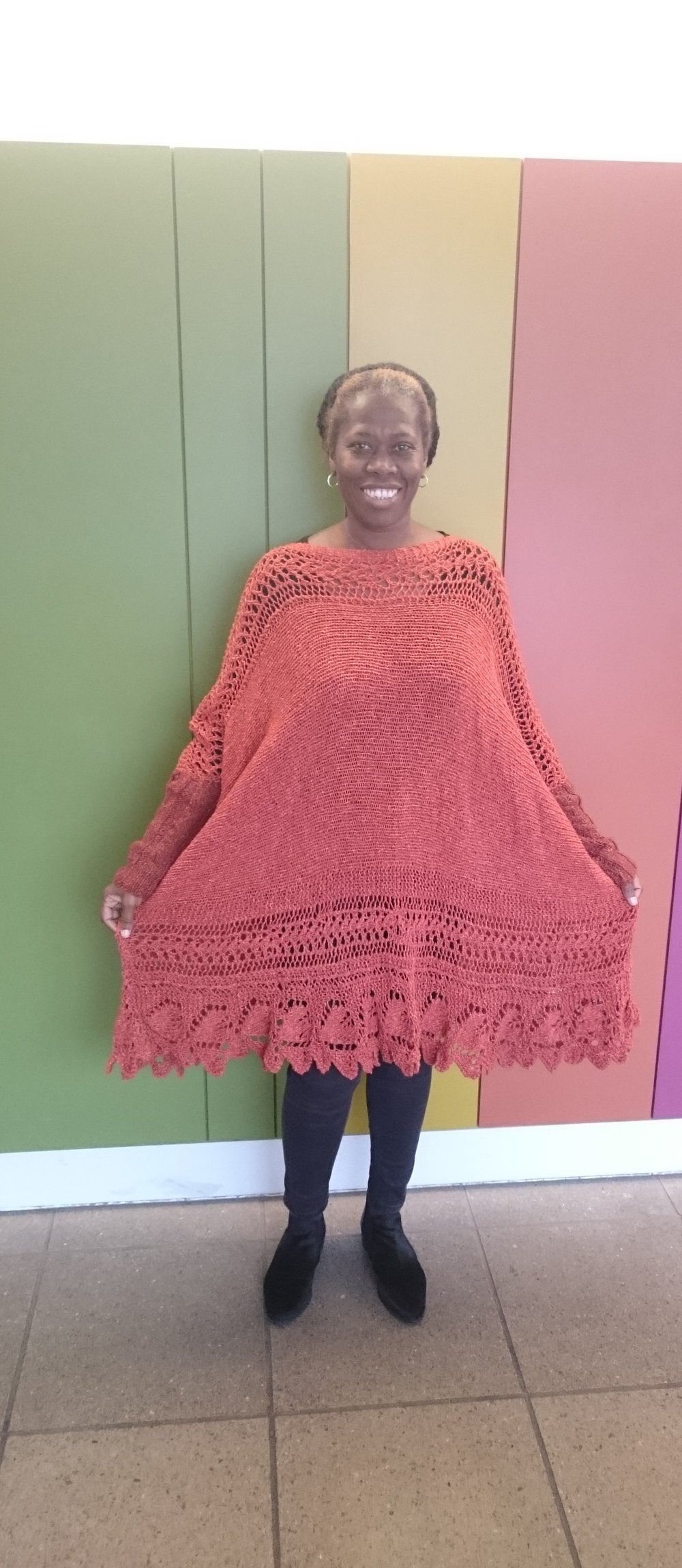 Louisa Harding Poncho knitted by me