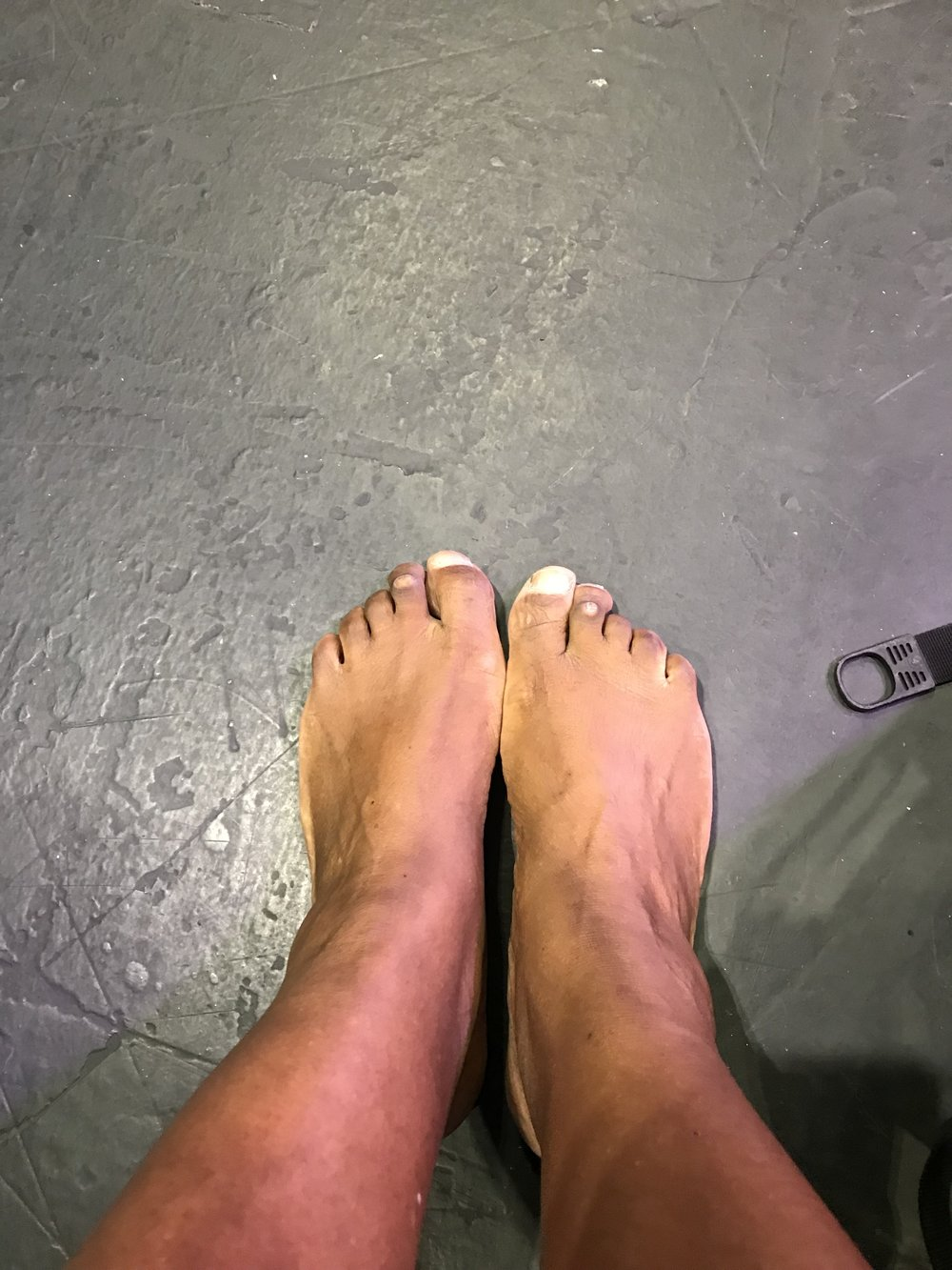 My feet after the Firewalk