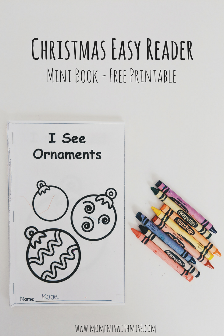 photo regarding Printable Mini Book named Xmas Very simple Reader - Free of charge [Mini Ebook] Printable Times