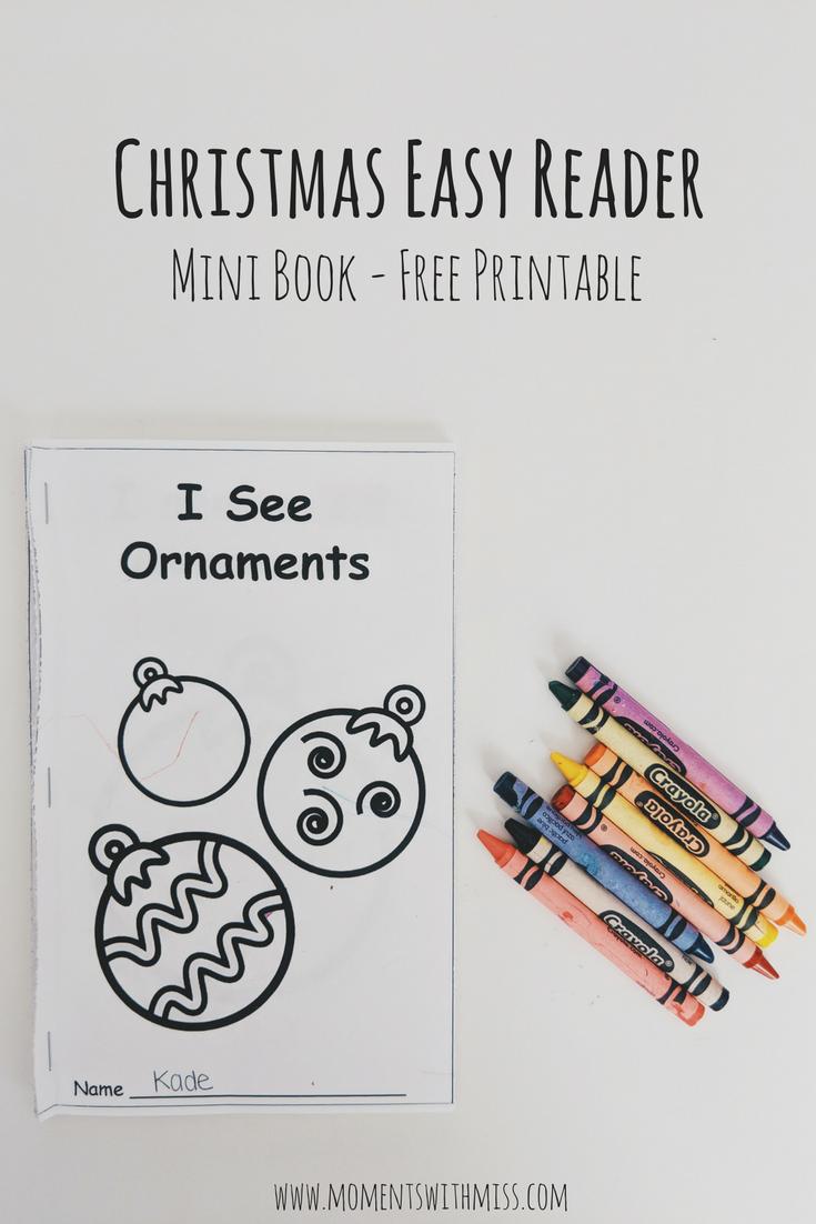 photo regarding Printable Mini Book named Xmas Very simple Reader - Free of charge [Mini Ebook] Printable Times