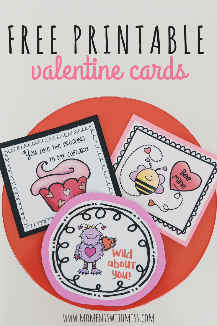 picture about Printable Valentines Pictures named Cost-free Printable Valentine Playing cards Times with Miss out on