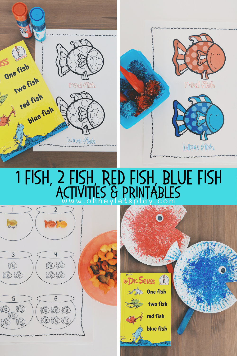 photograph relating to One Fish Two Fish Printable referred to as Crimson Fish, Blue Fish Dr. Seuss Routines Printables