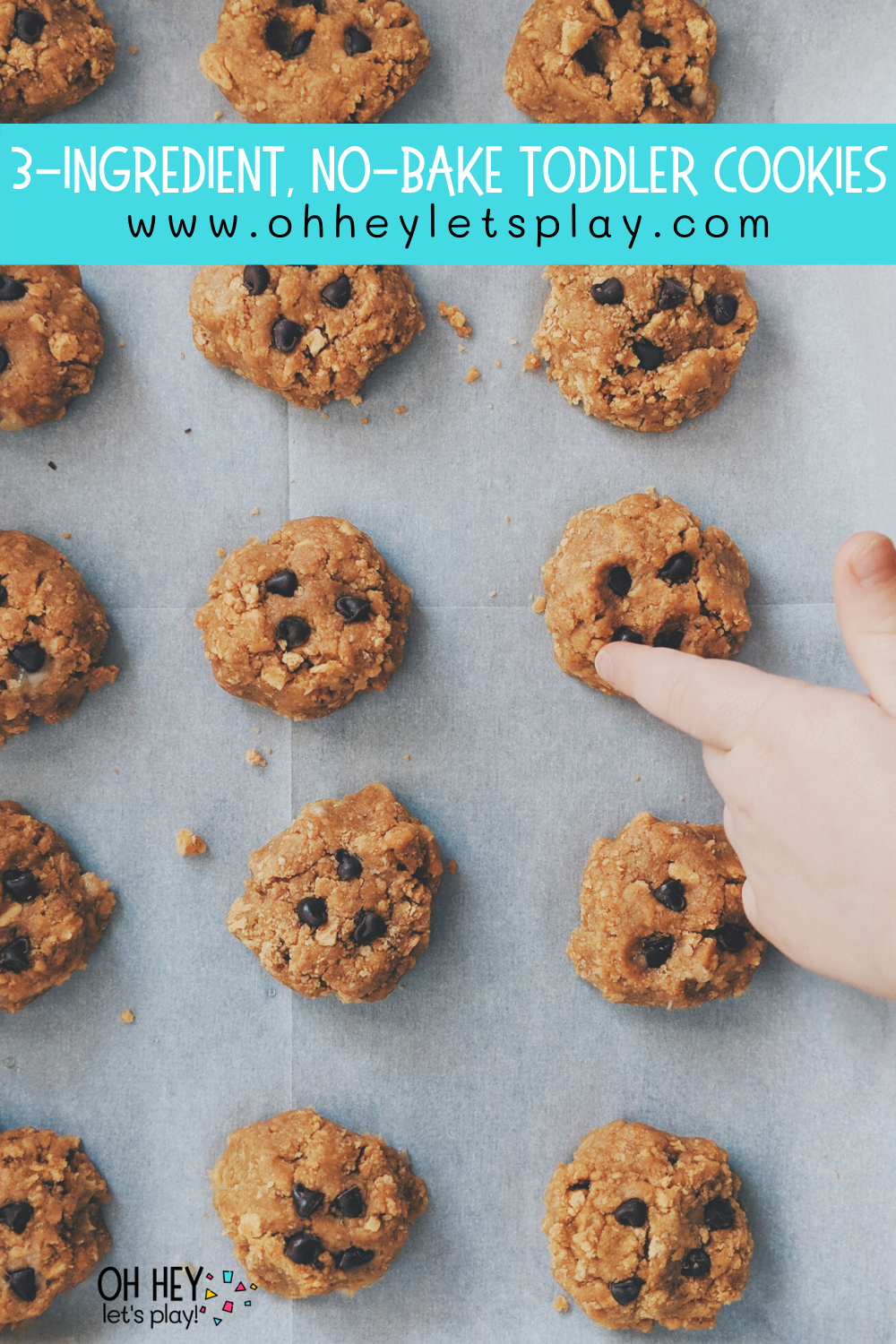 3-Ingredient, No-Bake, Toddler Cookies — Moments with Miss