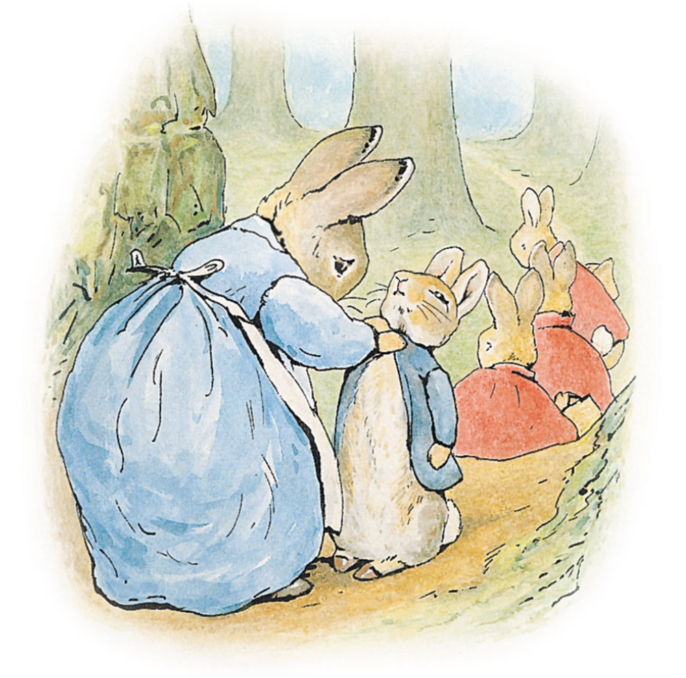 Beatrix Potter, Illustration to The Tale of Peter Rabbit, 1902, © Victoria and Albert Museum, London.