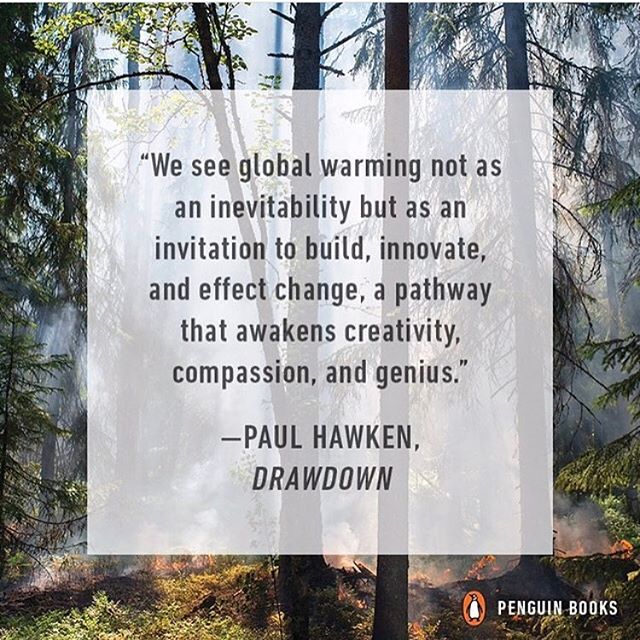 Happy Sunday everyone! If you're soaking up some #london rays today and fancy getting your teeth into an inspiring read, check out #PaulHawken's new survey of the top 100 things we can do to help restore balance to our climate and planet 🌎🙅🏽🌱#Drawdown #COPtimism [ regram: @leonardodicapriofdn ]