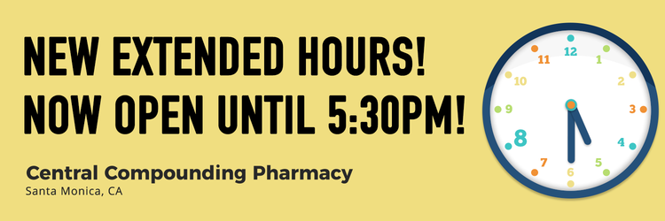 extended hours central compounding pharmacy now open until 5 30pm