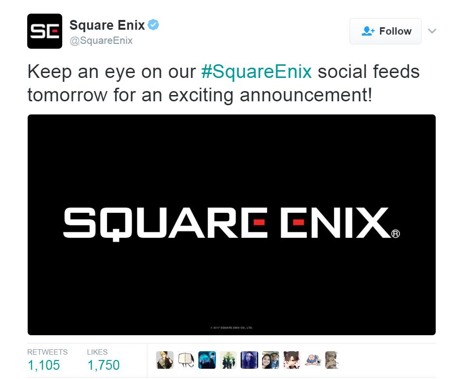 Square Enix Exciting Announcement