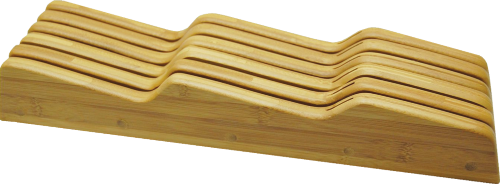 Bamboo Knife Block Drawer Insert
