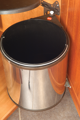 Swing-Out Stainless Steel Garbage Can with Lid