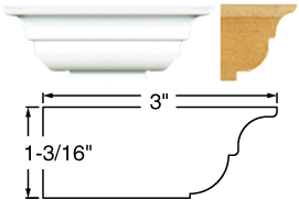 Painted Crown Molding - STCM-1