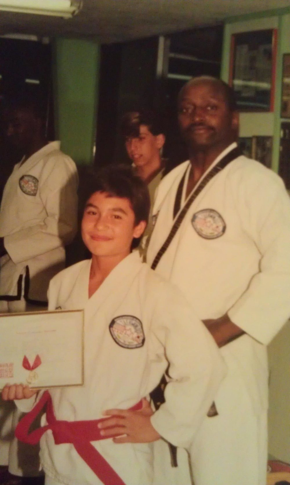 Red Belt with my Instructor, Bruce McGhee