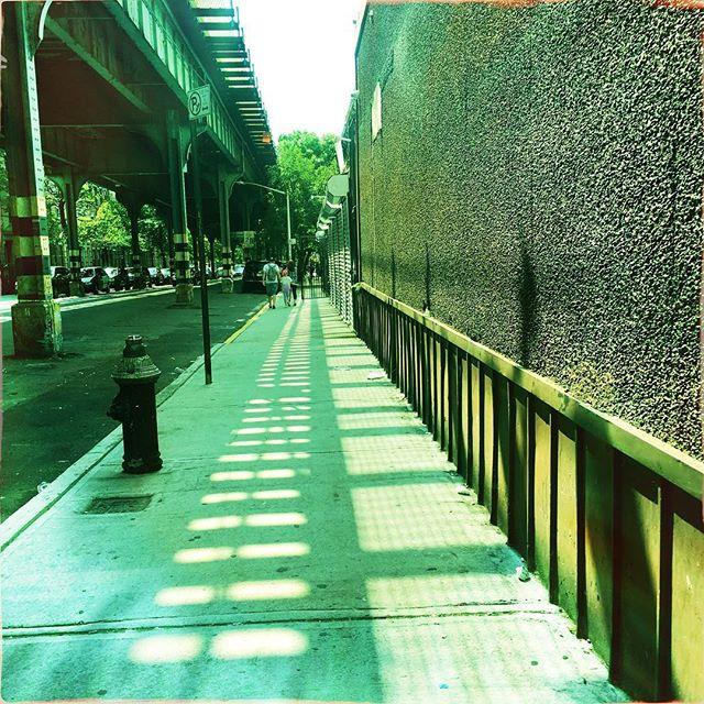 SHADOWS . . . . #CROOKEDGALAXYCROWN #hipstamatic #photography #NYC #neighborhood #photos #random #newyorkcity #perspective #ridgewood #bushwick #queens #brooklyn #shadows #Mtrain #gatesave