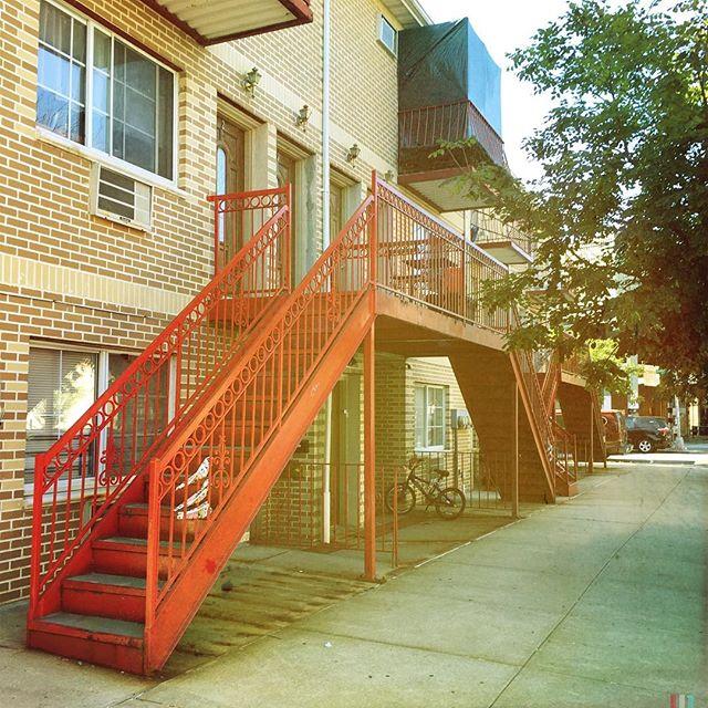 STAIRCASE . . . . #CROOKEDGALAXYCROWN #hipstamatic #photography #NYC #neighborhood #photos #random #newyorkcity #perspective #ridgewood #bushwick #queens #brooklyn