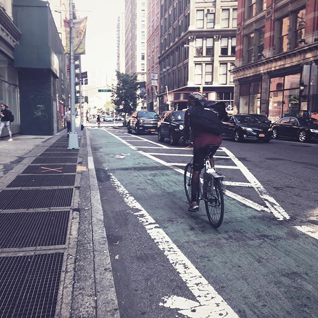 BIKE LANE . . . . #CROOKEDGALAXYCROWN #hipstamatic #photography #NYC #neighborhood #photos #random #newyorkcity #perspective #manhattan #chelsea #tribeca #westvillage #architecture #brownstones #buildings #bikelane #bicycles