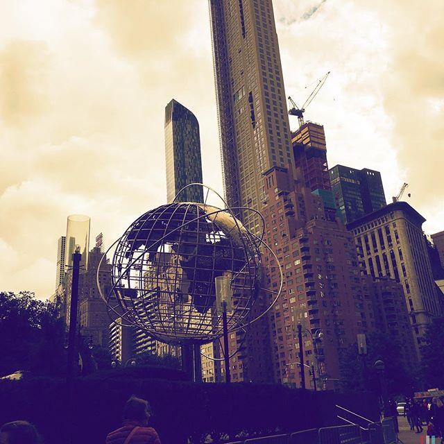 COLUMBUS CIRCLE . . . . #CROOKEDGALAXYCROWN #hipstamatic #photography #NYC #neighborhood #photos #random #newyorkcity #perspective #manhattan #chelsea #tribeca #midtown #uppereastside #upperwestside #westvillage #architecture #brownstones #buildings #globe