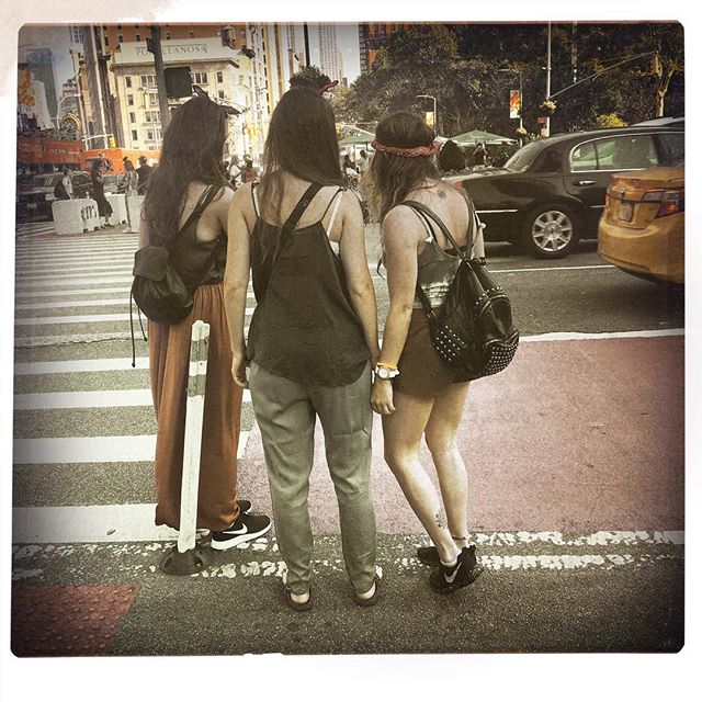 SELFIE SQUAD . . . . #CROOKEDGALAXYCROWN #hipstamatic #photography #NYC #neighborhood #photos #random #newyorkcity #perspective #manhattan #chelsea #tribeca #midtown #uppereastside #upperwestside #westvillage #architecture #brownstones #buildings #selfie #squad