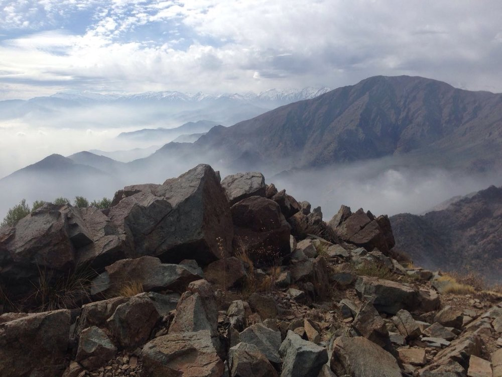 A view Of Cerro Provincia from Cerro La Cruz.