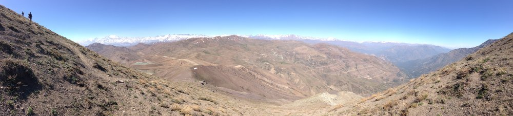 The View into the valley of El Manzano from the descent of Cerro San Ramon.
