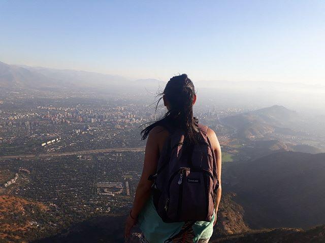 Santiago from Cerro Manquehue.  A truly beautiful experience... . . . . . . . . . . . . . . . . . . . #cerromanquehue #amazingview #floating #cityscape #happydays #dreaming #climbinghigh #chile #santiago #explore