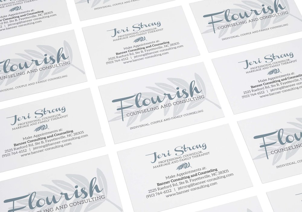 graphic design, business card design, nonprofit design, non profit design, counseling logo, business card