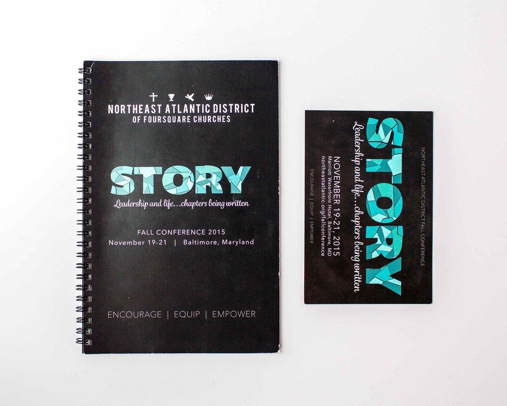 graphic design, postcard design, nonprofit design, non profit design, pastors conference, pastors conference design, postcard, notebook, spiral bound notebook,