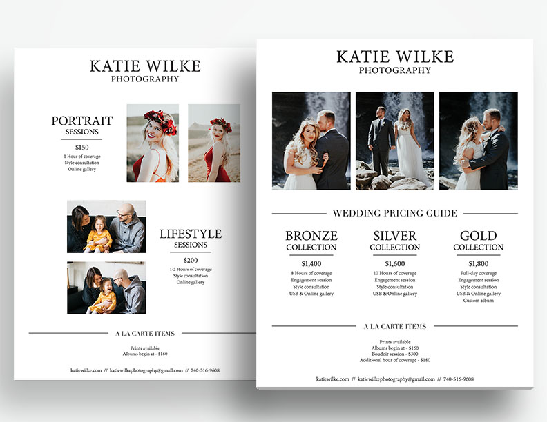 Pricing Guide | Wedding Photographer | Katie Wilke Photography