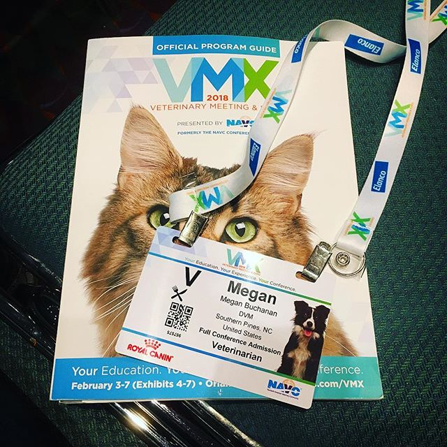 So many lecture topics I love - rehab, pain management, acupuncture, laser, regenerative medicine, nutrition, geriatric medicine... (4 days is not enough) Thanks for embracing all these integrative options @the_navc #moorepetmobility #vmx2018 #veterinaryacupuncture #veterinaryrehabilitation #veterinarysportsmedicine #gettingmylearnon #theyevencoveredcatrehab