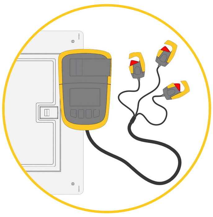 Magnetically place the 23-400 unit on a breaker box or panel door for hands-free use.