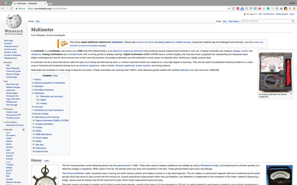 Down the Wikipedia rabbit hole we go