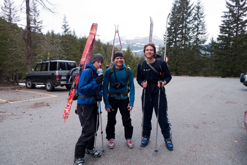 Fuck we were young… Christian, Artem and I getting ready to do the Garibaldi Neve Traverse in a day.