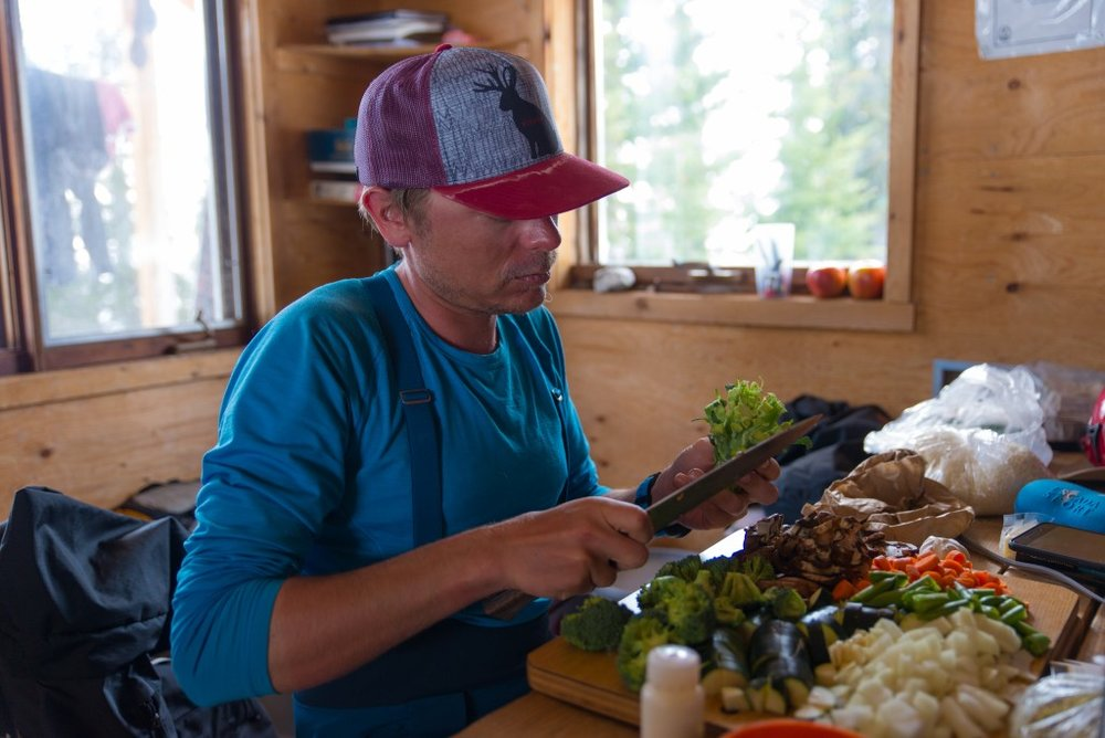 Vegetables you say? Where do you get fresh vegetables 5 days into a ski traverse, 50 km from the nearest road?