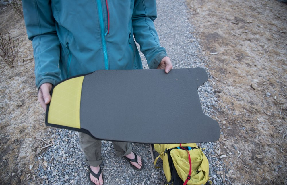 removable back panel - the removable back panel now features padding which apparently makes it a bivy pad