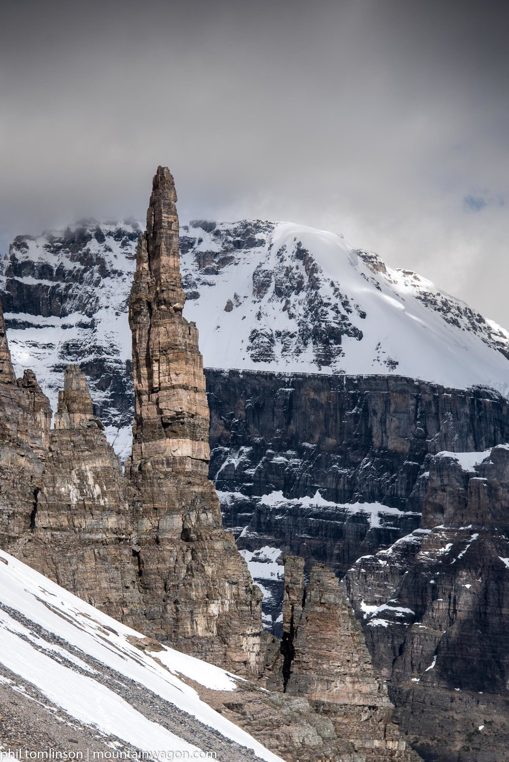 The Grand Sentinel - it's rather recognizable and while it might not look that big - that's four pitches of climbing to the top.