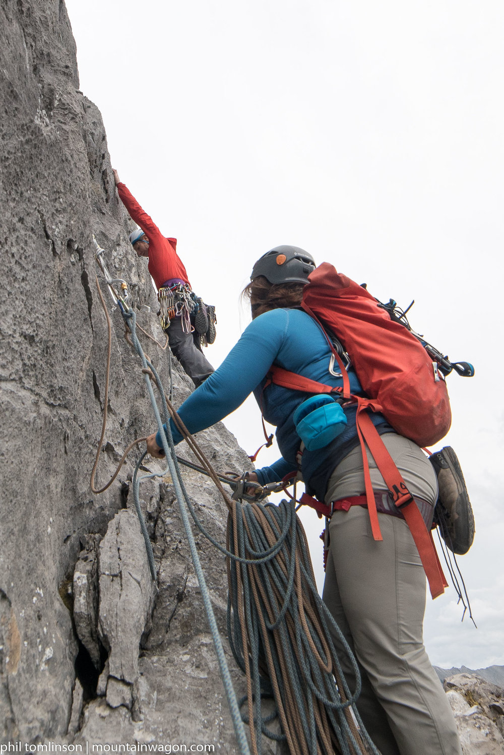 Katherine starts up the final pitch of Heart Line