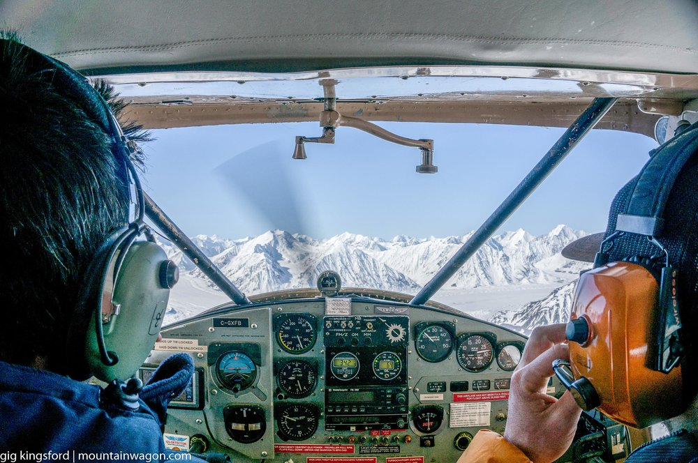 Flying into Kluane with Discovery Icefields