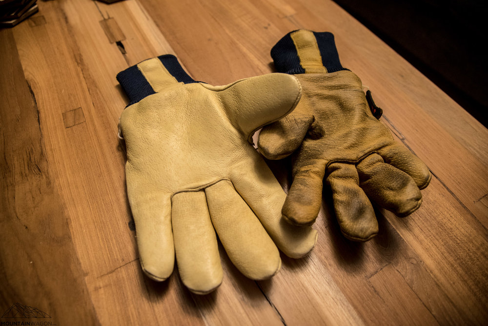 A bit of use and the gloves get super comfortable and flexible. A couple of applications of leather waterproofing gunk darkens up the colour of the gloves and actually makes them look better in my mind.