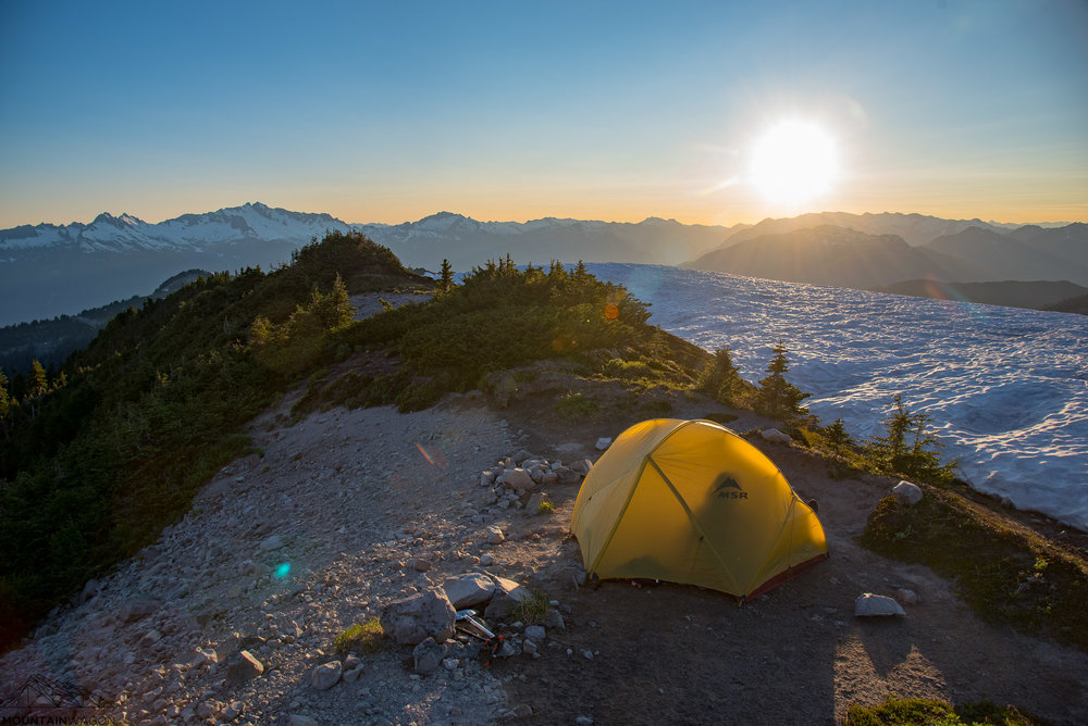 Perfect camp site on Brohm Ridge