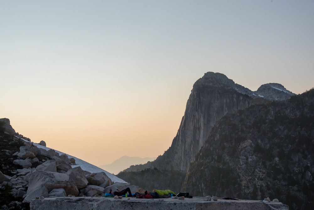 The big flat boulder is basically the perfect bivy