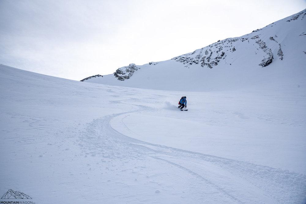 David enjoying (generally) pleasant turns down the Robertson Glacier