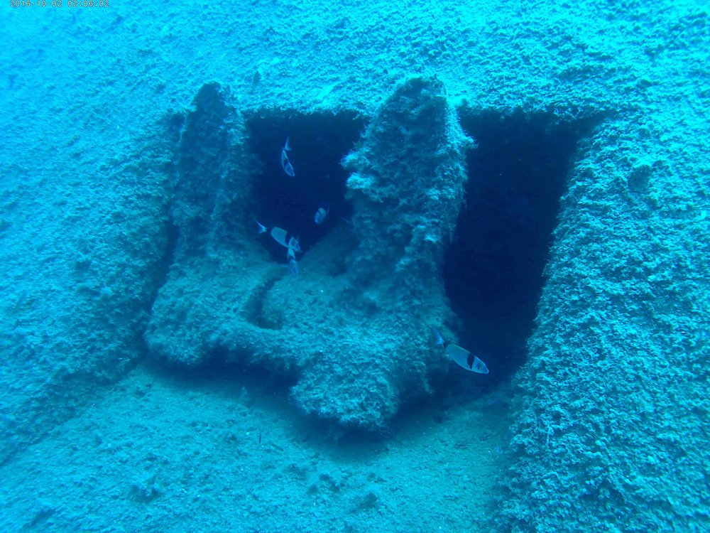Samina wreck.  Photo: S. Middleton