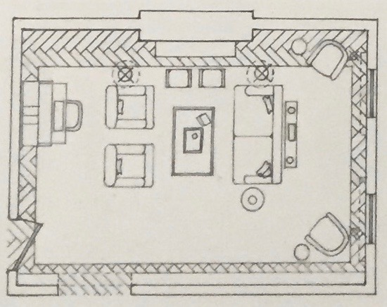 Floor Plans And Elevations For A Residential Design Course Dimensions Were Provided As Guidelines Style Seating Requirements