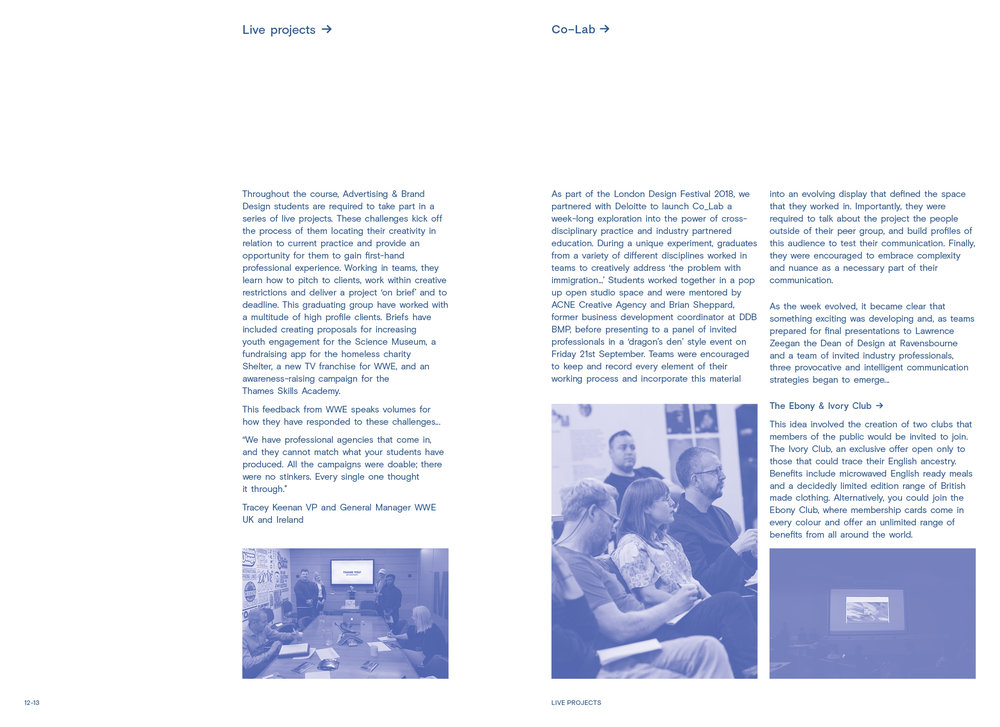 Industry Partnership:  2 col with 2-3 images per page.