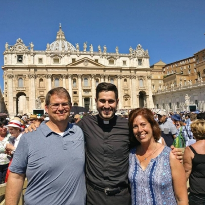 Enan and his parents in Rome!