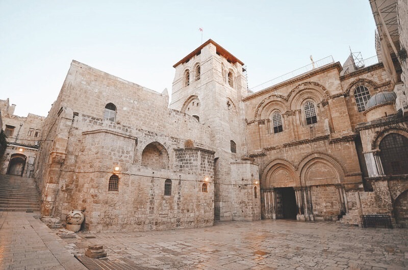 This church sits upon the site of both Golgotha and the tomb where Jesus was buried. Below are shrines within the church that were built above the place of the Lord's empty tomb (left) and the place where Jesus was buried (right).