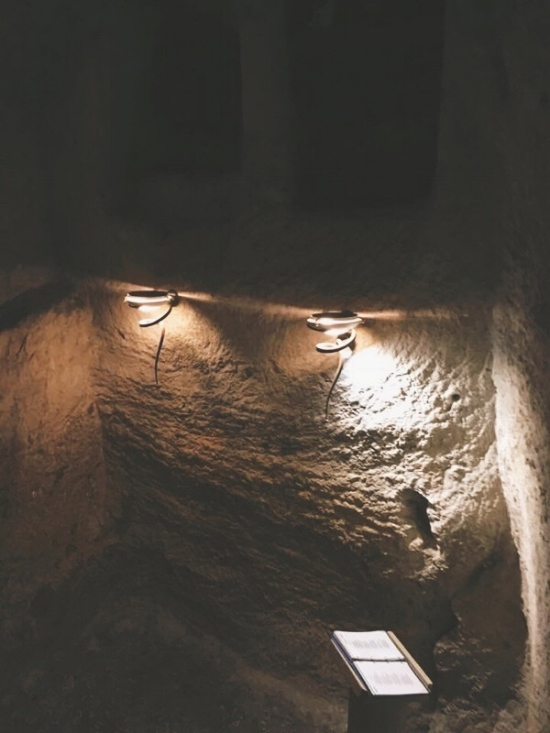 The pit that Jesus would have been held in before His crucifixion on Good Friday.