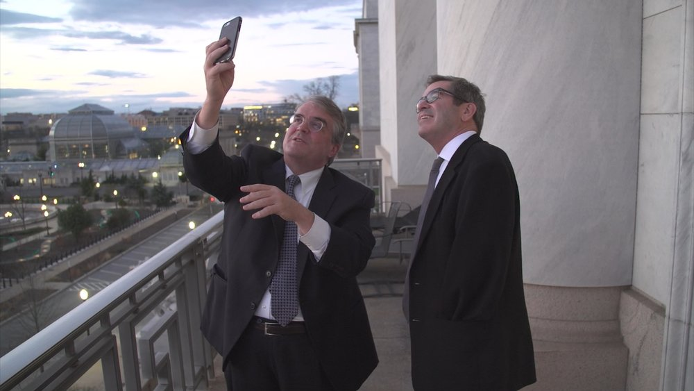 Miles O'Brien met with Rep. John Culberson (R-TX) to talk Europa NASA missions. Credit: NewsHour.