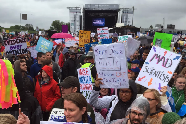 Protesters at the Washington, D.C. March for Science. Credit: Vox.