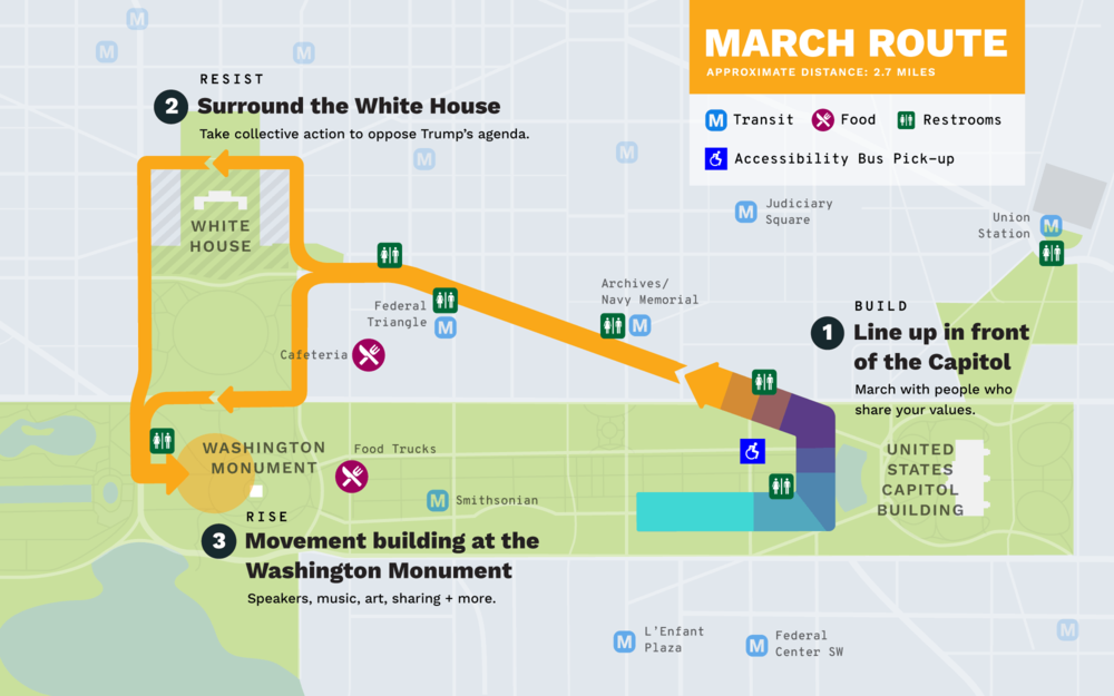 Route for the upcoming People's Climate March.